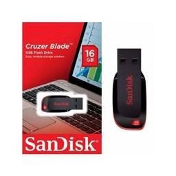 Pendrive Sandisk Cruzer Blade 16GB  - Preto/Vermelho