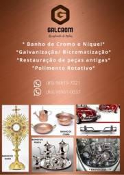 RESTAURAÇÃO DE PEÇAS METÁLICAS -CROMO-NíQUEL-PRATA-COBRE