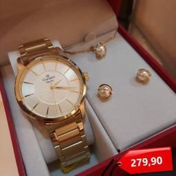 Relógio Champion com kit