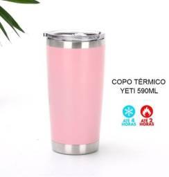 Título do anúncio: Copo Térmico Yeti Rosa 590ML com Tampa
