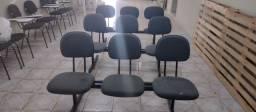 Kit de 3 cadeiras para escritório