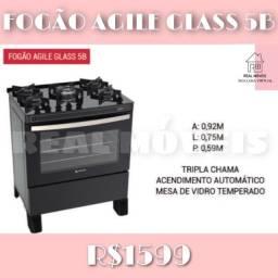 Fogão Agile Glass 5B fogão agile Glass 5B fogão fogão 6 bocas