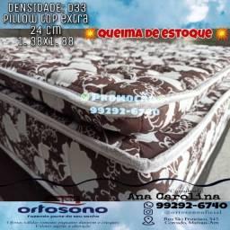Colchao de casal, D-33 c pillow top extra 6666