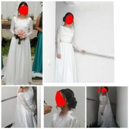 Vestido de noiva (com hobby e adereço de brinde)