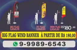 Big Flag / Wind Banner apenas R$ 180.00