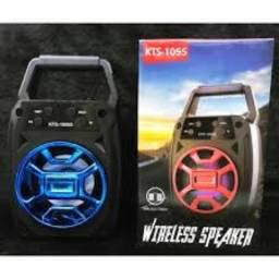 Caixa De Som Bluetooth Kts-1055 Usb Micro Sd Aux Portátil
