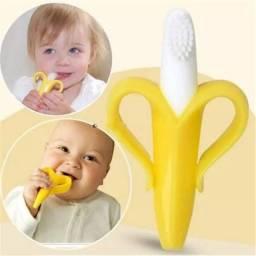 Mordedor escova de dentes banana baby Buba
