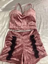 Pijama de veludo