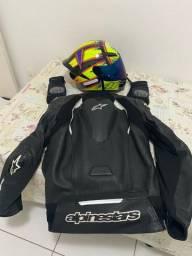 Jaqueta alpinestars/capacete agv original /luvas X11