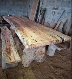 Mesa madeira super nobre!!!