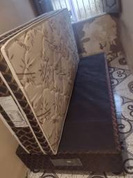 Cama box com colchão de solteiro