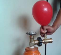 Cilindro Gás Hélio vazio 6,0 M3 + Válvula para balão