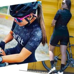 Macaquinho feminino de ciclismo Kafitt 1ª linha P