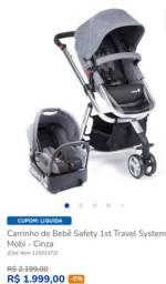 Carrinho de Bebê com Bebê Conforto e suporte para cadeirinha de carro