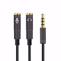 Cabo Adaptador P3 (p2 Combo) P/ Fone E Headset Microfone