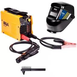Kit Máquina Inversora de Solda 130A Bivolt e Máscara Escurecimento Automático Kala