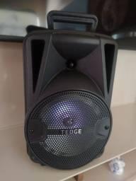 """Alto-falante Tedge 8"""" portátil com bluetooth preto"""