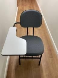 06(Seis) Cadeiras Universitárias com prancheta