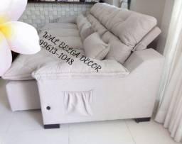 Sofás retrátil e reclinável assento molas ensacada.