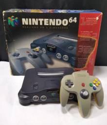 Nintendo 64 em ótimo estado de funcionamento