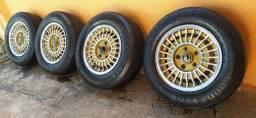 Vendo jogo de rodas montadas  Ralinho original opala , Caravan e diplomata.