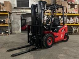 Empilhadeira Diesel Hangcha | 2,5 toneladas | Torre triplex