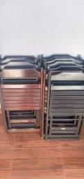 Cadeira de madeira drobravel