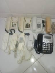 Lote Telefones Convencionais P/ Reparo/ Retirada Peças Leia