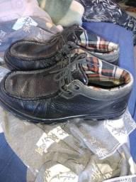 Sapato da marca Ecko pouco uso couro original n40
