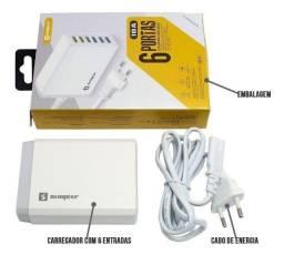 Carregador 6 Portas USB Rápido 10A Universal