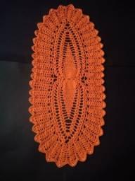 Caminho de mesa crochê abacaxi