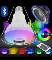 Lâmpada Bluetooth Led RGB Caixa de Som Musical