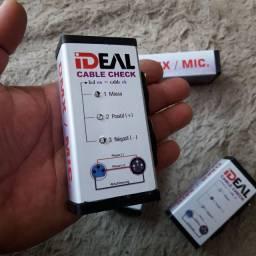 Testa cabos de Microfone e DMX