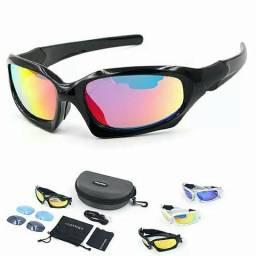 Óculos de sol, ciclismo três lentes kit completo