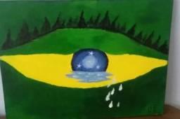 Quadro Olho do Brasil