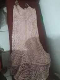 Vendo vestido de formatura de renda M