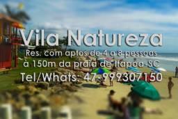 Apto 6 pessoas Temporada Itapoá à 150m da praia, otima localização