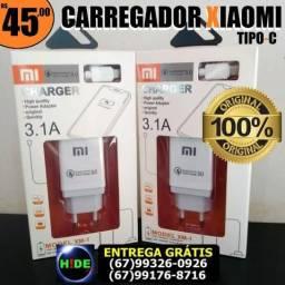 Carregador Original Xiaomi Tipo-C (entrega grátis)
