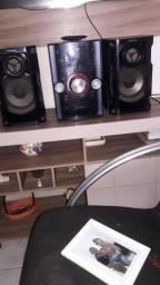 Som Panasonic super conservado fucionando tudo cd pendrive acende display