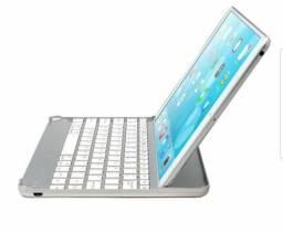 Capa em alumínio e teclado bluetooth para Apple Ipad 3,4 e 5