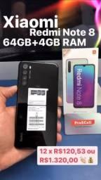 Xiaomi Redmi Note 8 64GB novo, caixa lacrada, a partir de R$1.320,00
