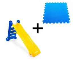 Kit Promocional para Crianças: Escorregador 4 Degraus + Tatame em EVA