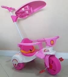Triciclo Multicare 3x1 Xalingo rosa NOVO NUNCA USADO  -oportunidade!