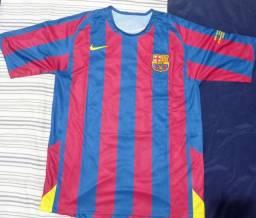 Camisa Retrô Ronaldinho gaúcho Barcelona FINAL 2006