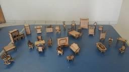 Casinha em mdf com móveis