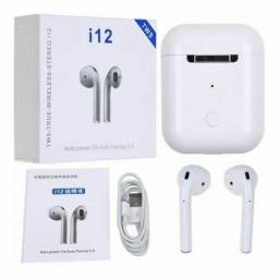 Fone De Ouvido Bluetooth I12 Touch Tws 5.0 Versão Sem Fio