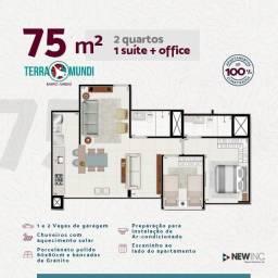 Ap 2 Qtos com Suíte + Office de 75,86m², Bairro Jundiaí, Entrada Facilitada