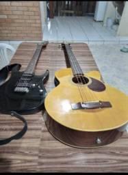 Baixo e guitarra novos e em bom funcionamento