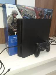 Playstation 4 ps4 slim 1 tb com 4 jogos midia fisica