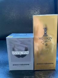 Perfumes Invictus 50ml  e 1 Million 100ml Lacrados